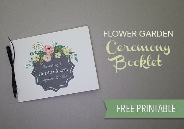 Free Wedding Program Template - Download & Print