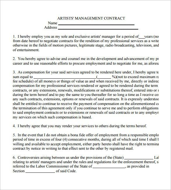 Band Contract Template. Investment Agreement Template - Best ...