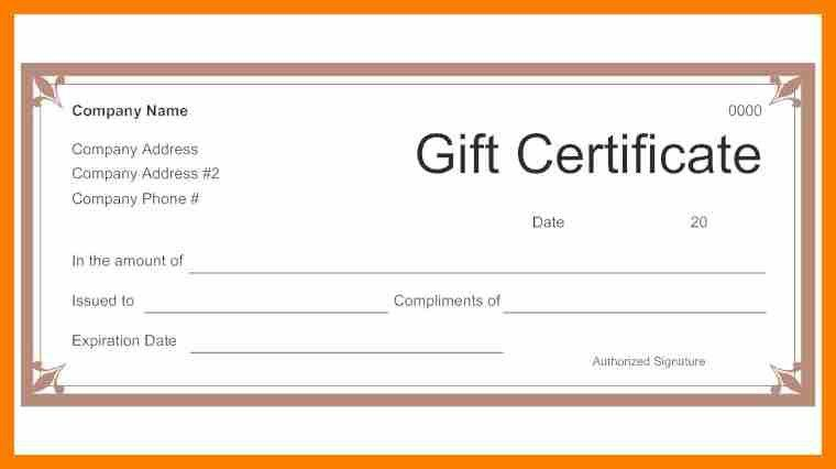 Sample Blank Gift Certificate Template. Free Printable Gift ...