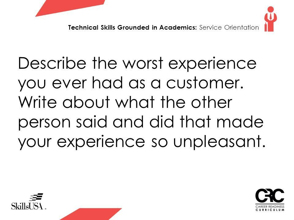 Everyone Is A Customer Technical Skills Grounded in Academics ...