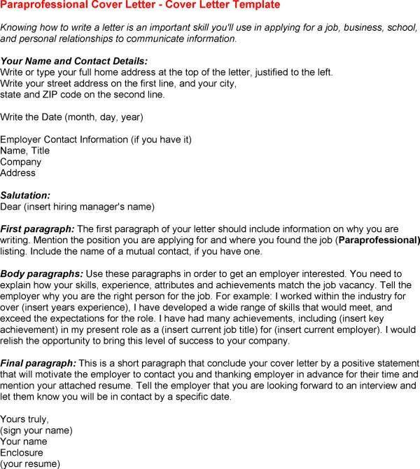 Paraprofessional Resume Sample Job Resignation Letter Career ...