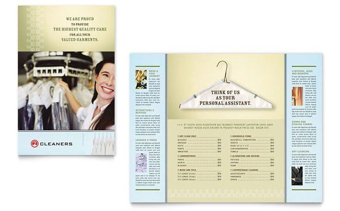 Laundry & Dry Cleaners Brochure Template Design