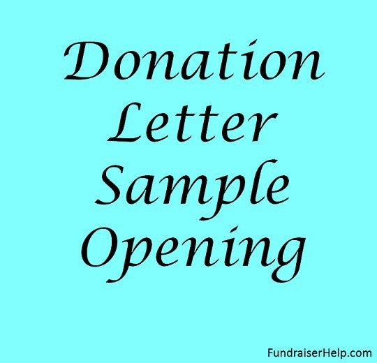 Fundraising Letters - Donation Request Letters