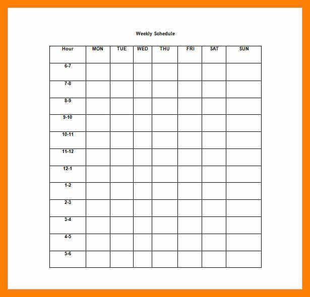 10+ week schedule template word   attendance sheet