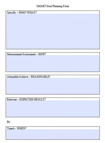 Download SMART Goals Worksheet Templates | Excel | PDF | Word ...