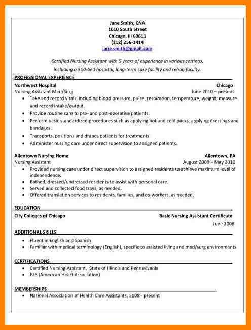 cna resume samples resume samples and resume help cna duties and - Nursing Assistant Resume Sample