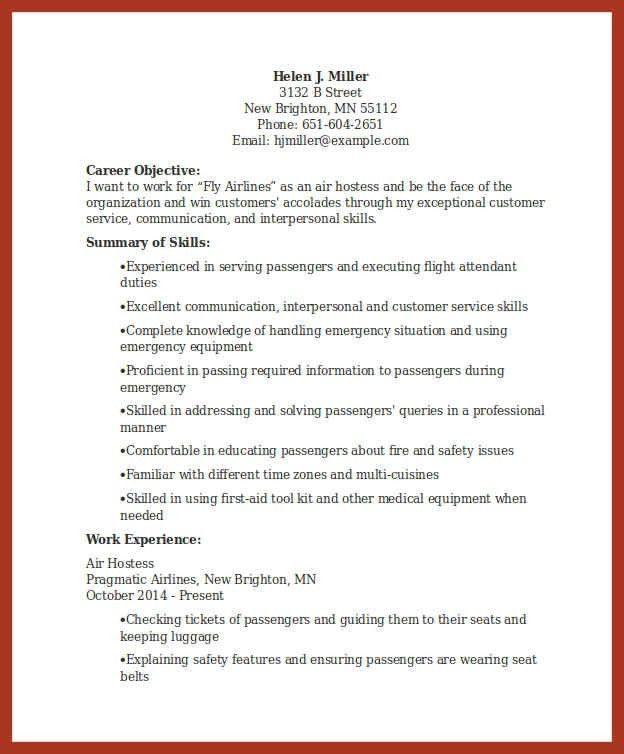 hostess duties resume | job proposal example