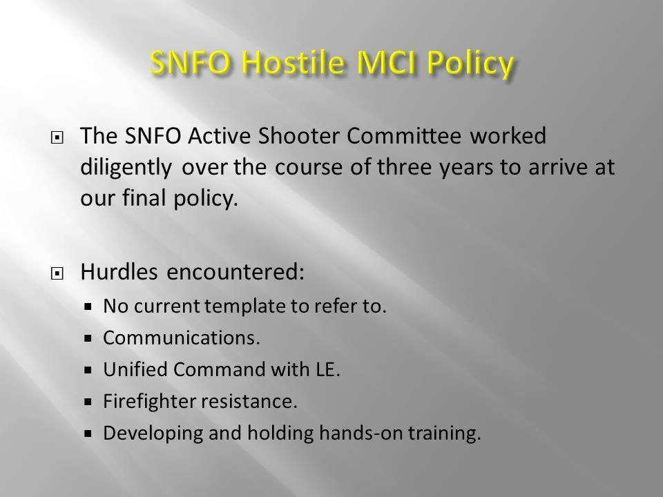 Hostile MCI Response Policy - ppt video online download