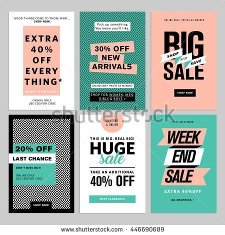 Social Media Banners Pack Vector Illustrations Stock Vector ...