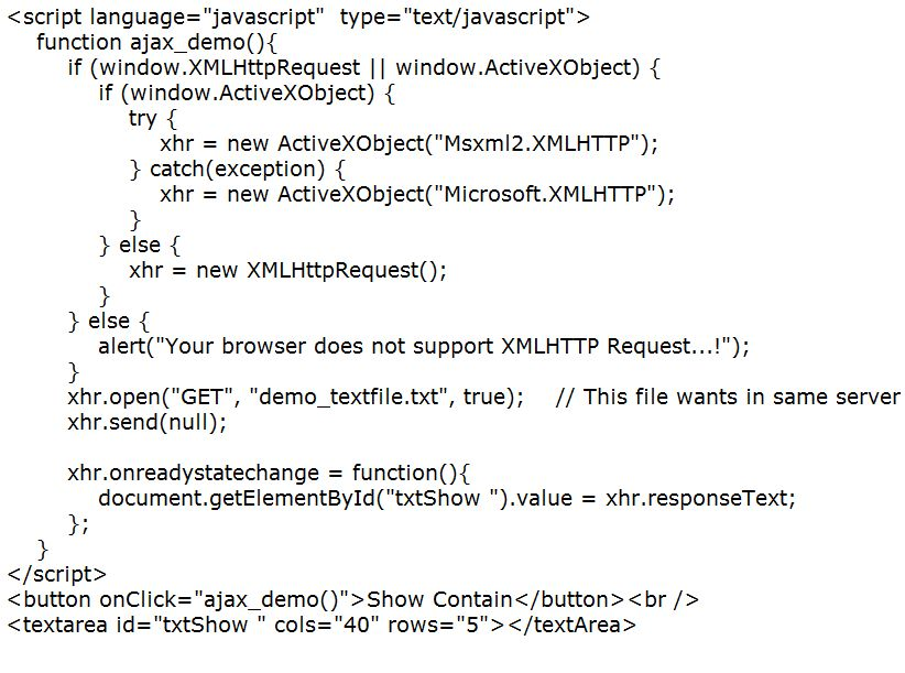 Update part of a web page using AJAX | GrubLoader