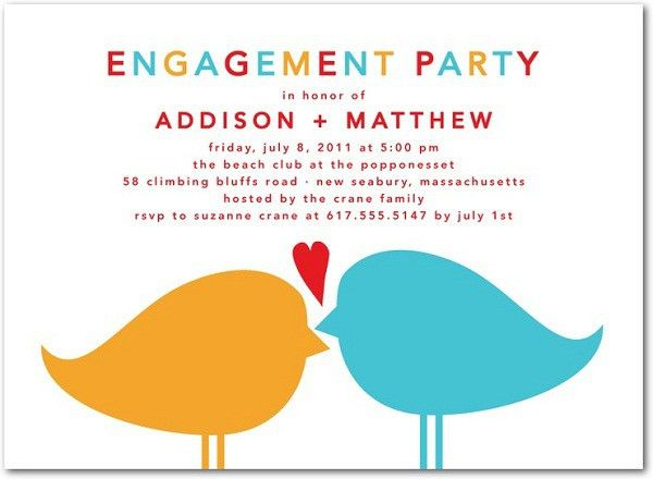 Engagement Invitation Wording - 365greetings.com