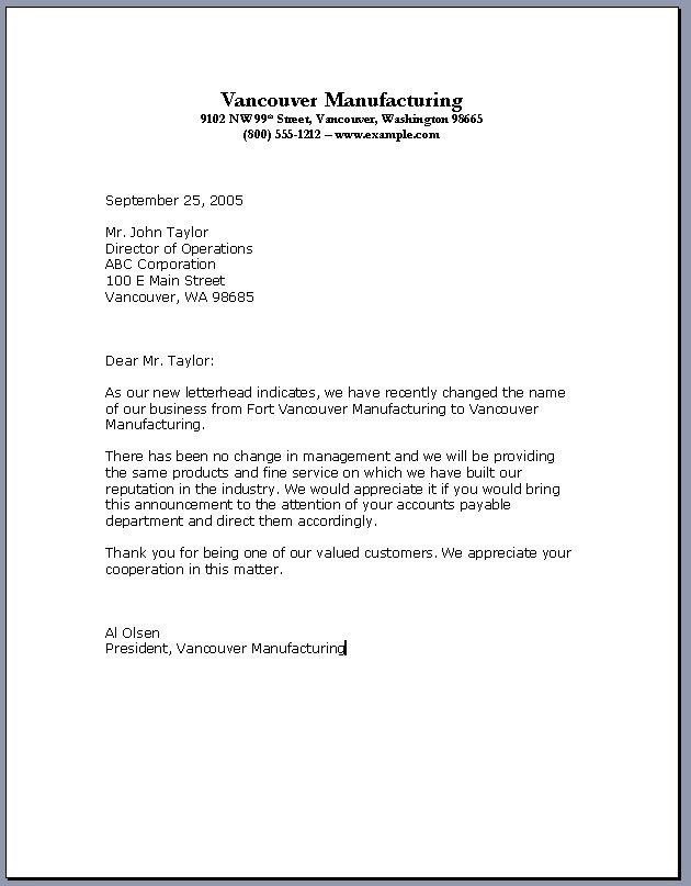 Writing Business Letters Samples | The Letter Sample