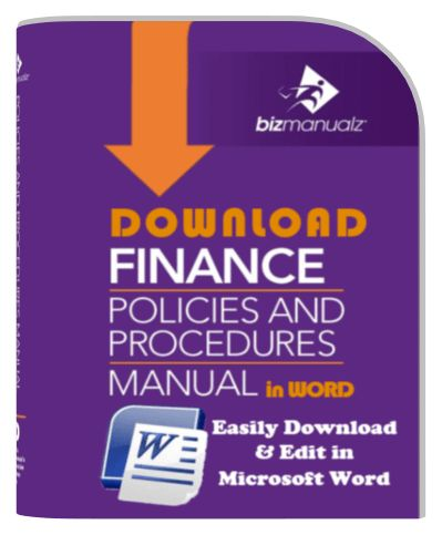 Finance Policies Procedures Manual Template | Finance Policy Manual
