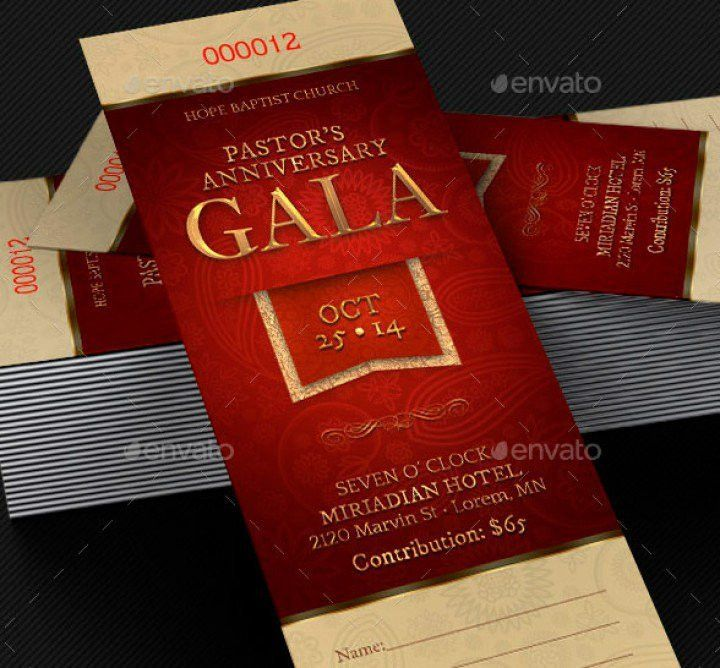 Amazing Ticket Templates for Church and Fund Raising Events ...