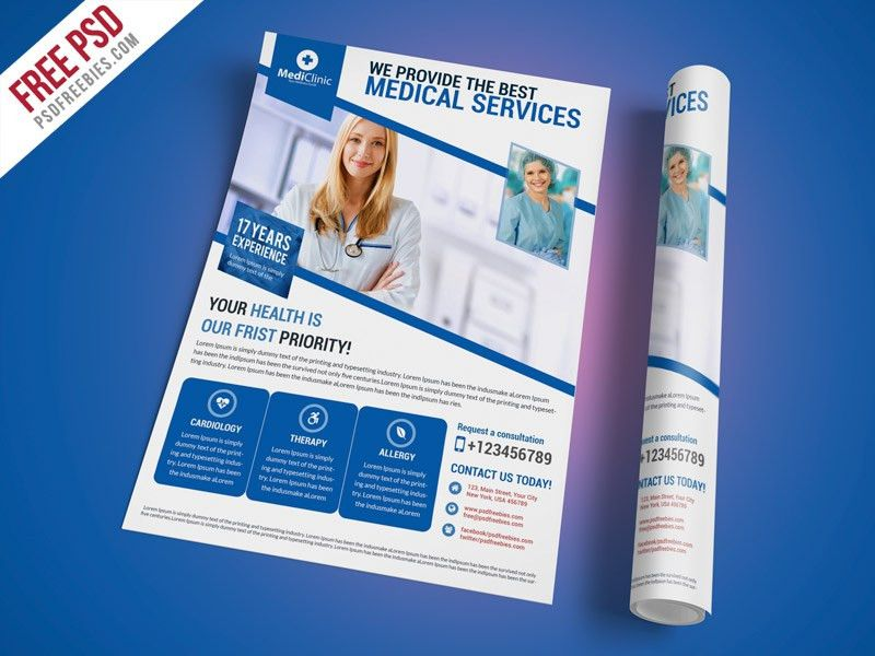 Medical Services Flyer Template Free PSD | PSDFreebies.com