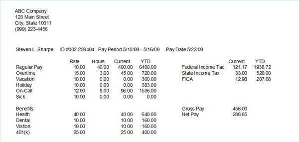 Paycheck Stub Template & Calculator - Download Business