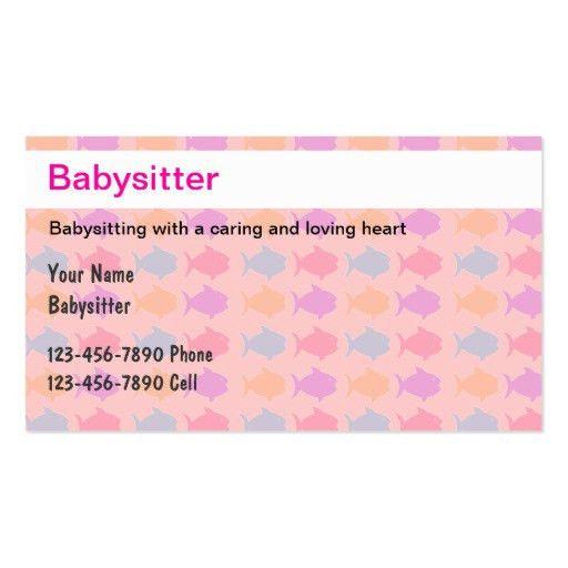 20+ [ Babysitting Business Cards Templates Free ] | Babysitting ...
