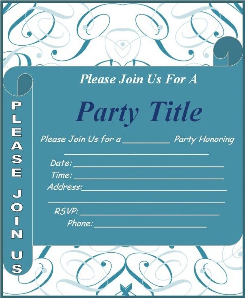 Designs Word Invitation Template Free Best Business Template ...