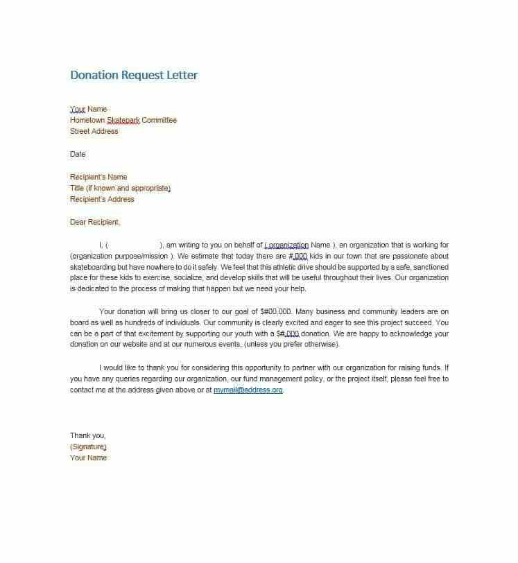 Donation Request Letter. Donation-Letter-Request-Sample-Donation ...