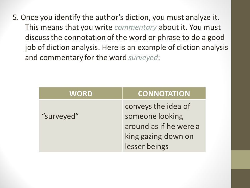 AP Style Analysis Unit 2 Diction Analysis. - ppt download