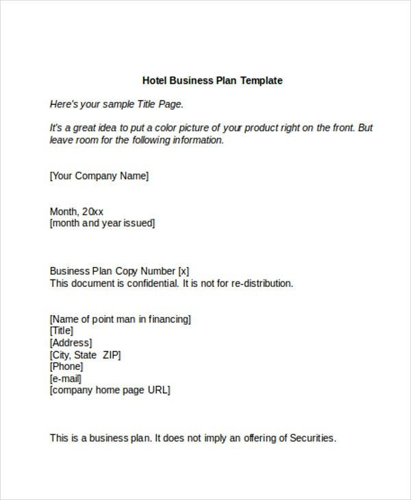 Hotel Sales Plan Templates   5+ Free Word, PDF Format Download .