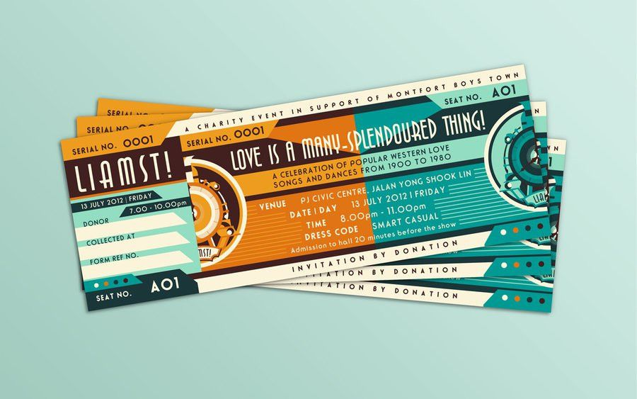 Love Has A Many-Splendoured Thing! Ticket Design by soulfinder90 ...