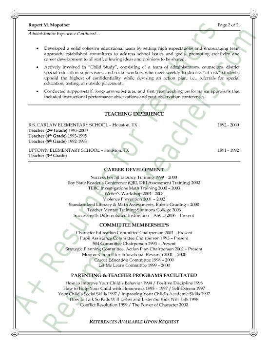 Assistant Principal's Cover Letter Example | Cover letter sample ...
