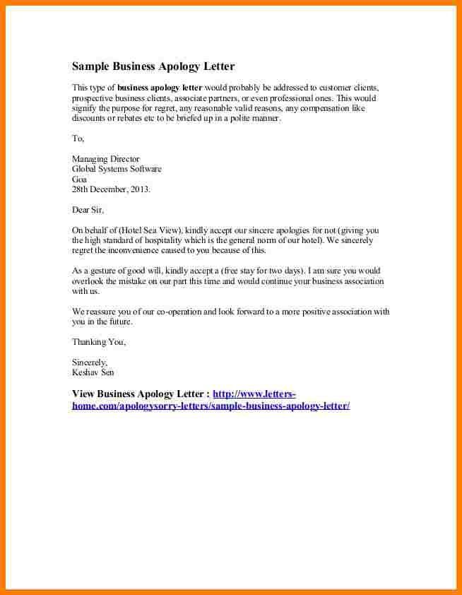 10+ business apology letter | letter format for