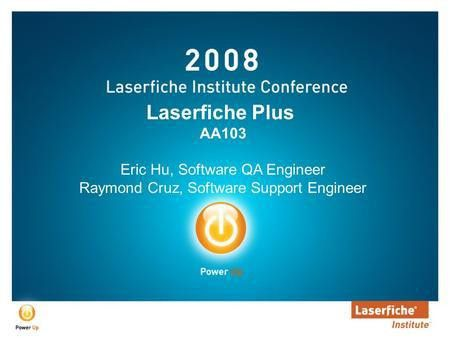 Overview of Laserfiche Architecture - ppt video online download