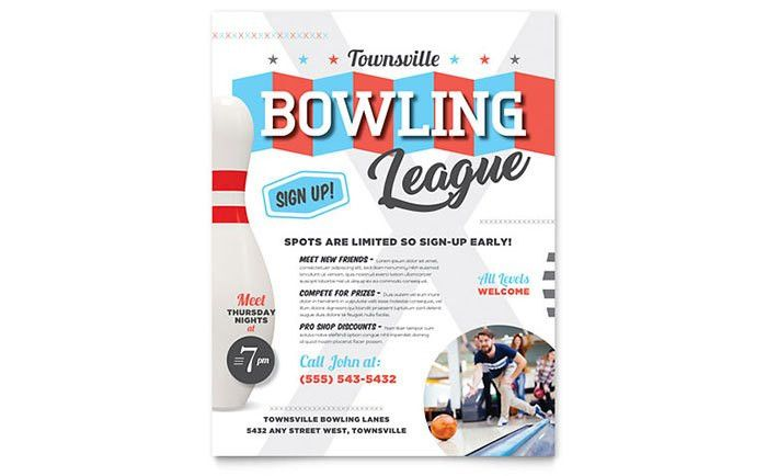 Bowling Flyer Template Design