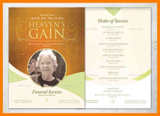 Order Of Service Template Free 88 | Cvletter.csat.co