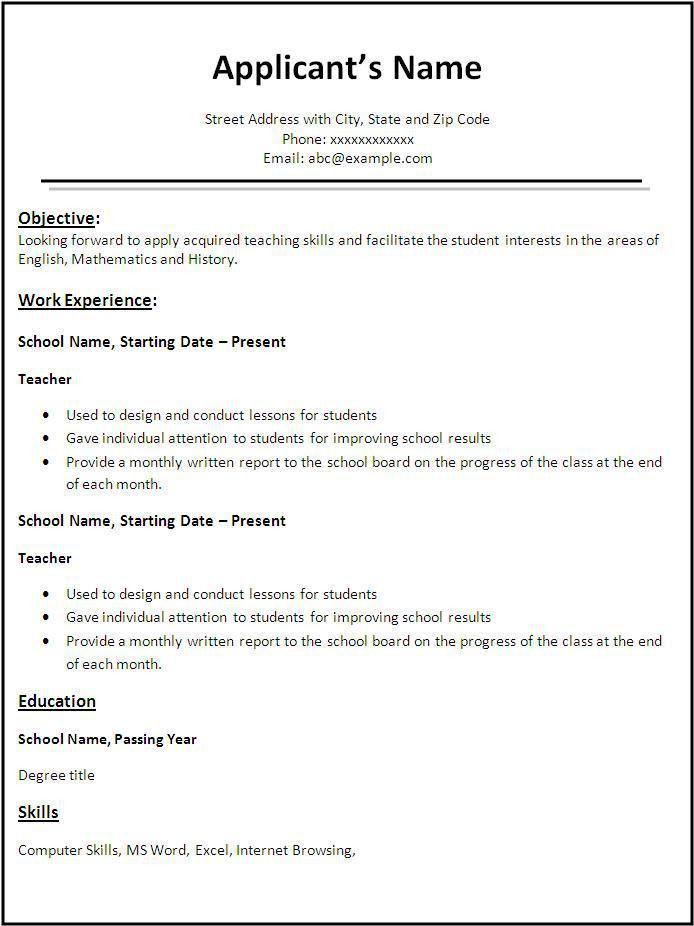 Modeling Resume Template. Model Resume Format Model Resume ...