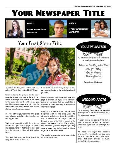 Free Newspaper Templates - Print and Digital   Makemynewspaper.com