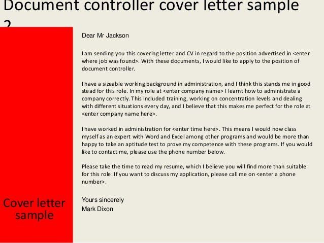 Pipeline Controller Cover Letter