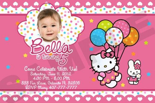 Fascinating Hello Kitty Birthday Invitation Card 50 In Official ...