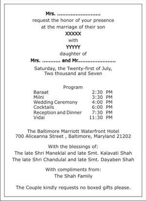 Hindu Wedding Invitation Wordings,Hindu Wedding Wordings,Hindu ...