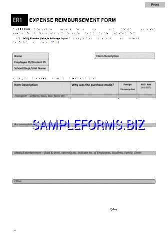 Expense Reimbursement Form templates & samples