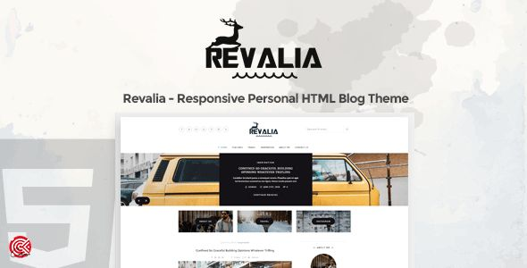 Revalia - A Responsive Personal HTML Blog Template by CodePages ...