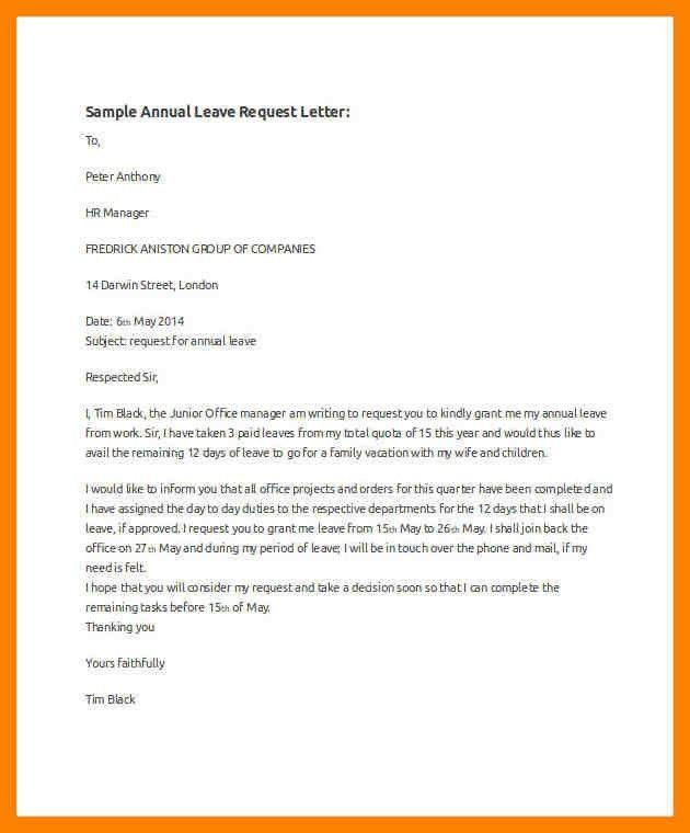 Leave request sample letter of leave letter of leave of absence leave letter sample for office cover letter 4you spiritdancerdesigns Image collections