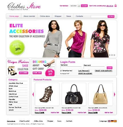 Fashion Website Templates Collection | Blog Website Templates.bz