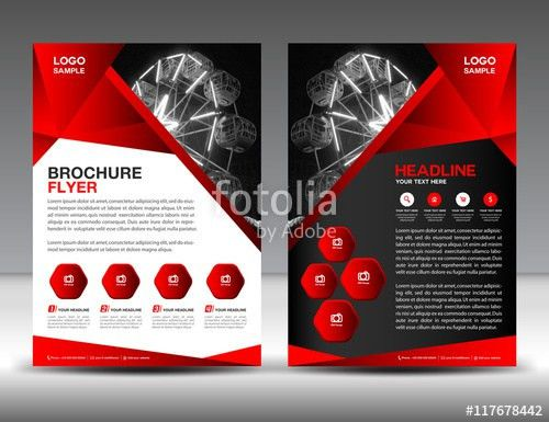 Set of blue brochure flyer design layout template in A4 size ...