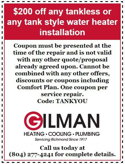 Seasonal Specials - Gilman Heating, Cooling & Plumbing