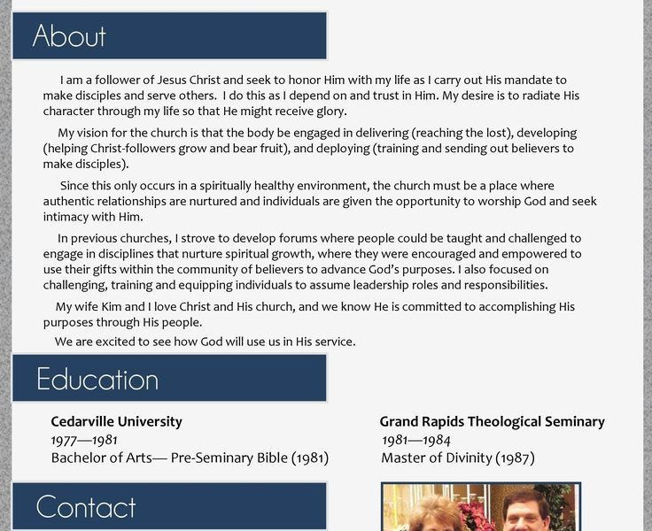 Terrific Pastor Resume Template 16 17 Best Images About Resumes On ...