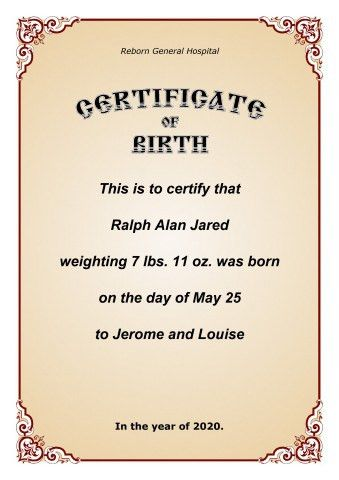 Certificate of Birth template, How to print a Certificate of Birth...