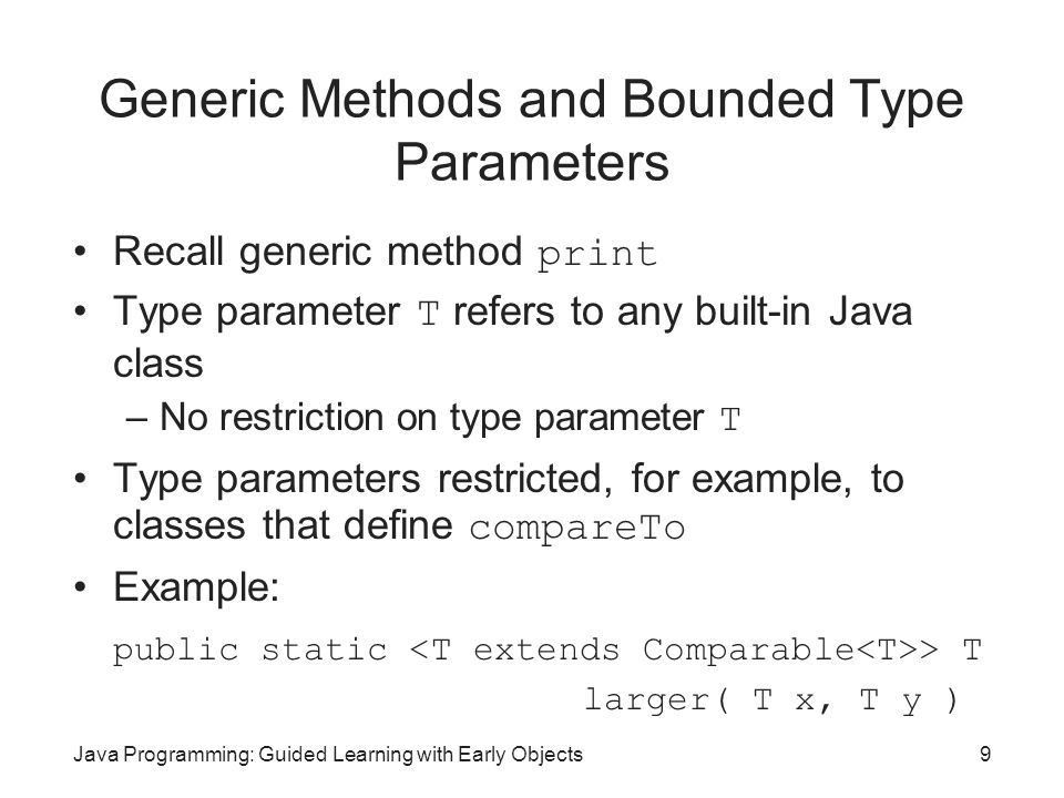 Java Programming: Guided Learning with Early Objects - ppt download