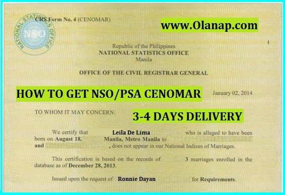 how to get Certificate of No Marriage Record Archives - Olanap ...