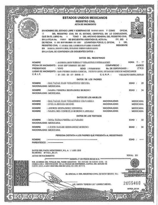 Birth Certificate Template Printable Best Photos Of Translated ...