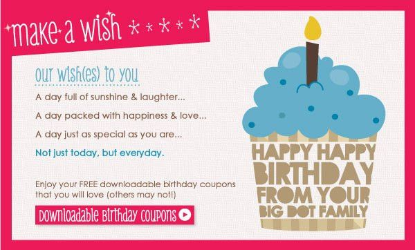 Free Printables: Make a Wish Birthday Coupons | Big Dot Of Happiness