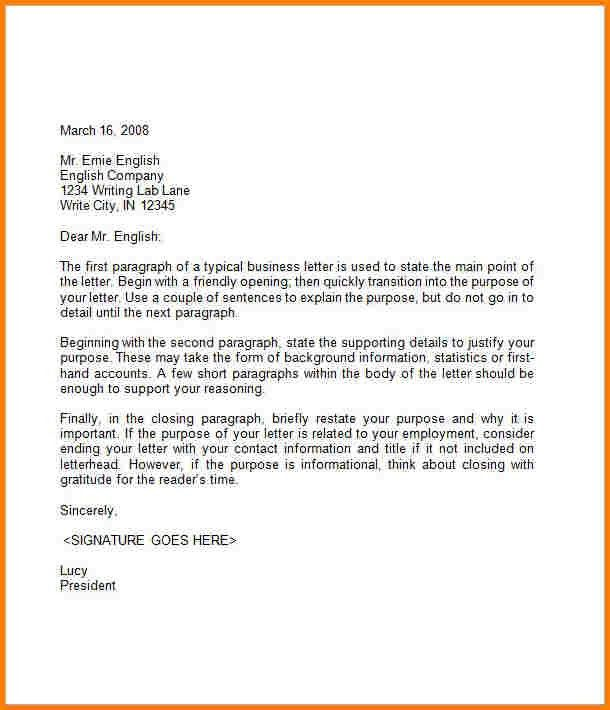 6+ free business letter template | quote templates