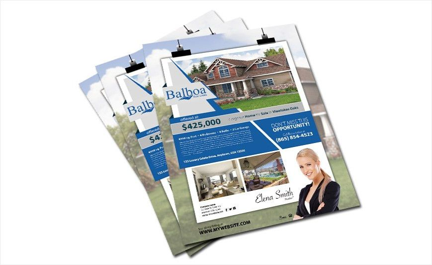 Balboa Real Estate Flyers | Balboa Real Estate Flyer Templates